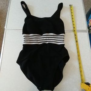 Awesome black and white vintage one piece